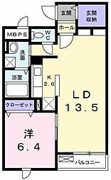 東京都武蔵村山市大南2丁目の賃貸マンションの間取り