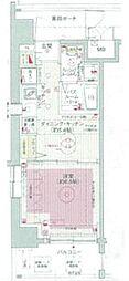 JR総武線 飯田橋駅 徒歩7分の賃貸マンション 5階1DKの間取り