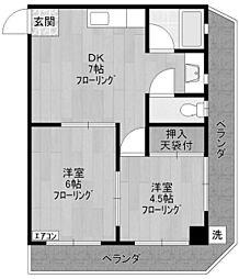 佐藤マンション[2階]の間取り