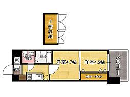 V-プロジェクト2100天神 No46[6階]の間取り