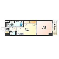 阪神本線 淀川駅 徒歩5分の賃貸マンション 3階1DKの間取り