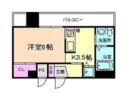 パレス東洋福島館[7階]の間取り