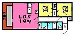 稲永ガーデンハウス[101号室]の間取り