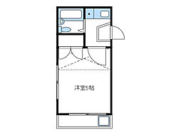 神奈川県厚木市妻田東3丁目の賃貸アパートの間取り
