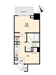 東京メトロ丸ノ内線 方南町駅 徒歩5分の賃貸マンション 4階ワンルームの間取り