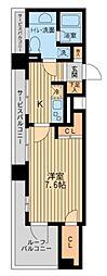 東急東横線 学芸大学駅 徒歩18分の賃貸マンション 5階1Kの間取り