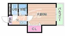 大阪府大阪市浪速区大国3丁目の賃貸マンションの間取り