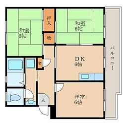 滋賀県東近江市東中野町の賃貸マンションの間取り