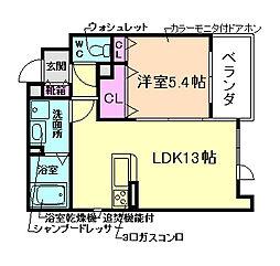ヴェルグランデ中桜塚[2階]の間取り