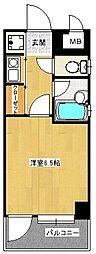 ピュアドーム リバージュ平尾[507号室]の間取り