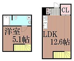 東京都品川区中延5丁目の賃貸マンションの間取り