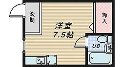 大阪府堺市中区深井沢町の賃貸マンションの間取り