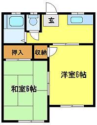 竹井荘[1階]の間取り