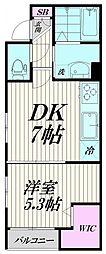 東京都品川区西大井3丁目の賃貸マンションの間取り