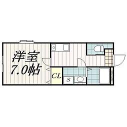 サン・コート本郷[108号室]の間取り