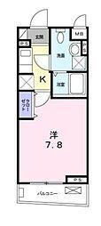 東急目黒線 不動前駅 徒歩5分の賃貸アパート 3階1Kの間取り
