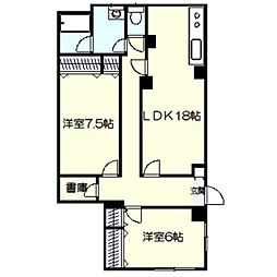 リコマンション[1階]の間取り