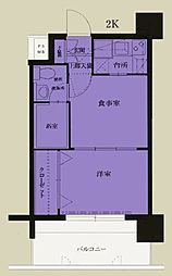 エステート・モア・平尾センティモ[1307号室]の間取り