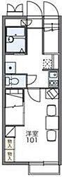 埼玉新都市交通 志久駅 徒歩22分の賃貸アパート 2階1Kの間取り