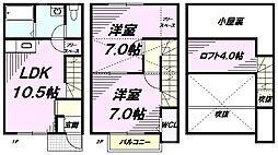[テラスハウス] 東京都八王子市楢原町 の賃貸【東京都 / 八王子市】の間取り
