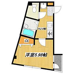 東京都葛飾区鎌倉3丁目の賃貸マンションの間取り