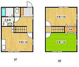 アメニティタウンハウス B[2号室]の間取り
