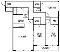 Moiwa view[225号室]の間取り