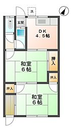 愛知県豊田市朝日町4丁目の賃貸アパートの間取り