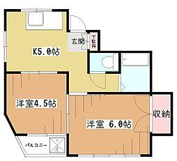 NTハイツ富士見[1階]の間取り