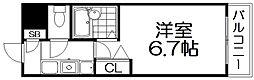 SS薬師谷[3階]の間取り