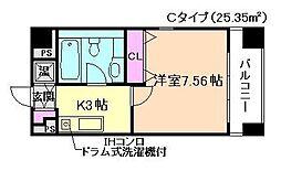 大阪府大阪市北区中之島3丁目の賃貸マンションの間取り