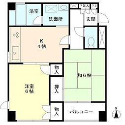 マノワール武蔵野[5階]の間取り