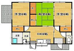 [一戸建] 福岡県福岡市東区下原1丁目 の賃貸【/】の間取り