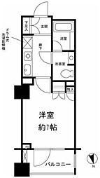 東京都中央区明石町の賃貸マンションの間取り
