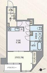 東京メトロ丸ノ内線 本郷三丁目駅 徒歩7分の賃貸マンション 4階1LDKの間取り
