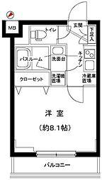 JR埼京線 板橋駅 徒歩6分の賃貸マンション 1階1Kの間取り
