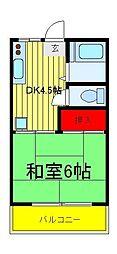 パールハイツ(西柏台)[2階]の間取り