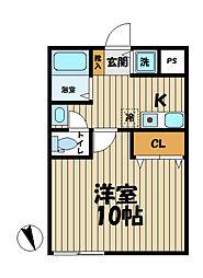 YAMASHIN・笛田[104号室]の間取り