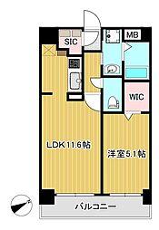 Y'sマンション弐番館 4階1LDKの間取り