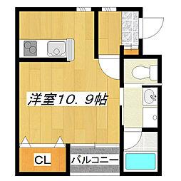 RUELLE3丁目[1階]の間取り