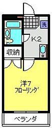 プロムナード三ツ沢[306号室]の間取り