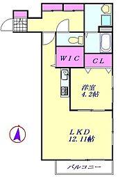 埼玉新都市交通 鉄道博物館(大成)駅 徒歩19分の賃貸アパート 2階1LDKの間取り