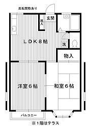 東京都練馬区春日町4丁目の賃貸アパートの間取り