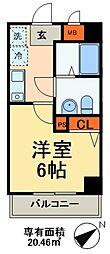 JR総武線 本八幡駅 徒歩3分の賃貸マンション 1階1Kの間取り