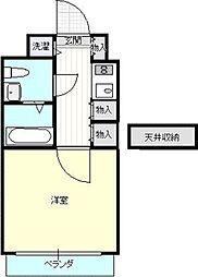 入江ビル[713号室]の間取り