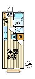 カーサ六國[1階]の間取り