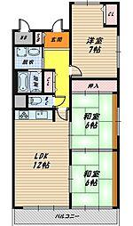 パレ京橋2番館[7階]の間取り