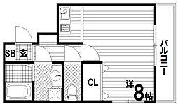 リヴィエル須磨[1階]の間取り