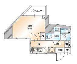 Valore Nishisugamo(ヴァローレ西巣鴨) 11階1Kの間取り