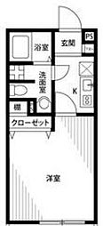 埼玉県草加市吉町1の賃貸アパートの間取り